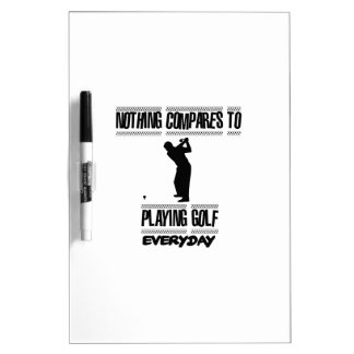 Trending cool Golf designs Dry Erase Board