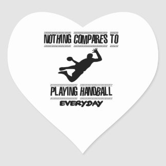 Trending cool Handball designs Heart Sticker
