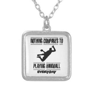 Trending cool Handball designs Silver Plated Necklace