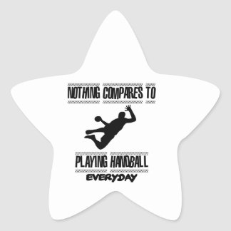 Trending cool Handball designs Star Sticker