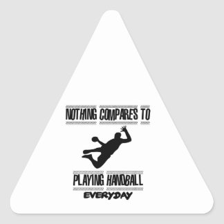 Trending cool Handball designs Triangle Sticker