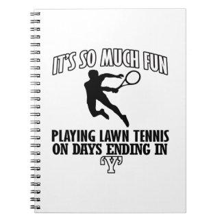 Trending cool Lawn-tennis designs Notebook