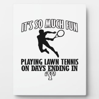 Trending cool Lawn-tennis designs Plaque