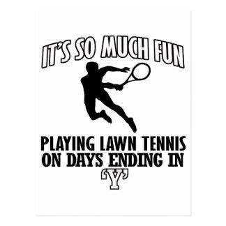 Trending cool Lawn-tennis designs Postcard