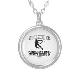Trending cool Lawn-tennis designs Silver Plated Necklace