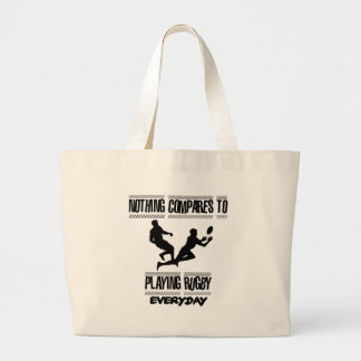 Trending cool Rugby designs Large Tote Bag