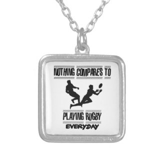 Trending cool Rugby designs Silver Plated Necklace