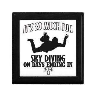 Trending cool sky-diving designs gift box