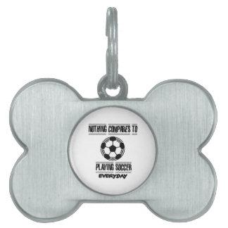 Trending cool Soccer designs Pet Name Tag