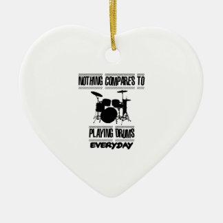 Trending Drummer designs Ceramic Heart Decoration