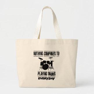Trending Drummer designs Large Tote Bag