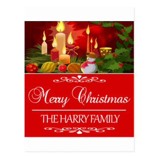 Trending Harry Family Christmas design Postcard