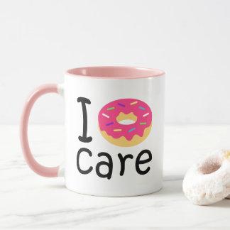 trending I Donut Care funny phrase quote emoji Mug