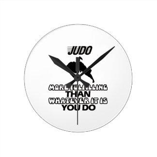 Trending Judo DESIGNS Round Clock