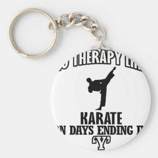 Trending Karate designs Basic Round Button Key Ring