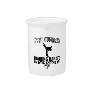 Trending karate designs drink pitchers