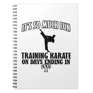Trending karate designs notebooks