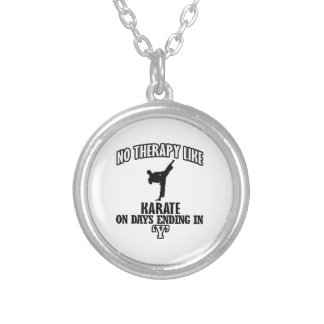 Trending Karate designs Silver Plated Necklace
