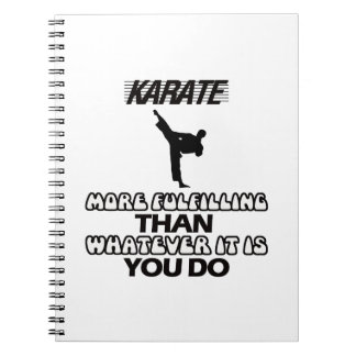 Trending Karate DESIGNS Spiral Notebook