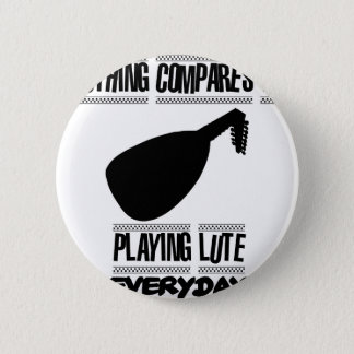 Trending lute player designs 6 cm round badge
