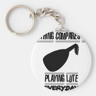 Trending lute player designs key ring