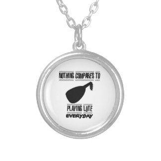 Trending lute player designs silver plated necklace