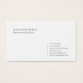 Trending Modern Elegant Minimalist White Plain Business Card