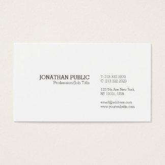 Trending Modern Elegant Minimalistic White Plain Business Card