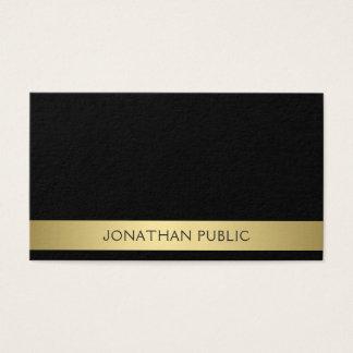 Trending Modern Professional Elegant Black Gold Business Card