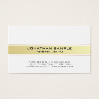Trending Modern White and Gold Professional Matte Business Card