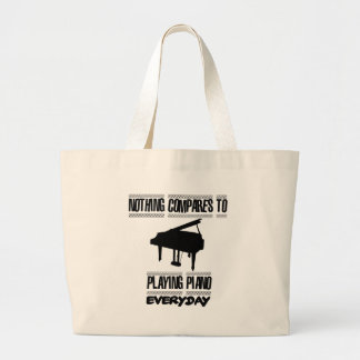 Trending Piano player designs Large Tote Bag