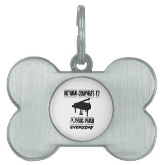 Trending Piano player designs Pet ID Tag