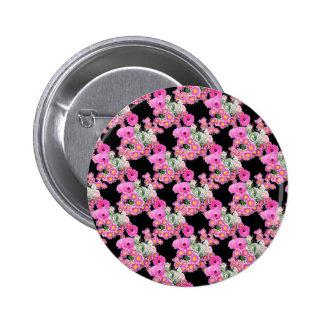Trending Pink black floral pattern accessories Pins