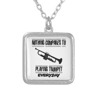 Trending Trumpet designs Silver Plated Necklace