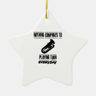 Trending Tuba player designs Ceramic Ornament