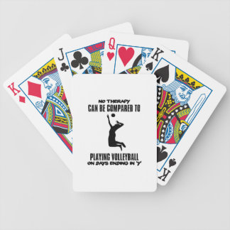Trending Volleyball designs Bicycle Playing Cards