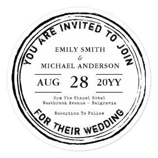 Trending Wedding Invitation 2018 Rustic Round Inky