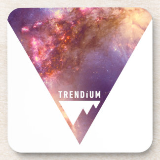 Trendium Authentic Inverted Space Triangle Galaxy Drink Coasters