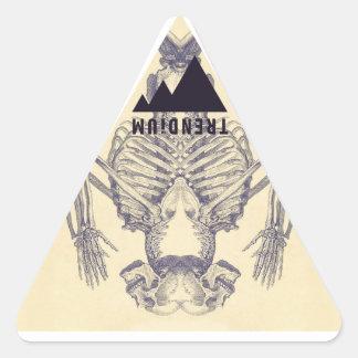 Trendium Vintage Symmetrical Skeleton Triangle Stickers