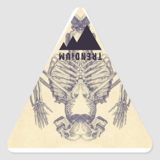 Trendium Vintage Symmetrical Skeleton Triangle Triangle Sticker