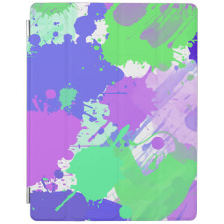 trendy abstract colorful neon brushstrokes iPad cover