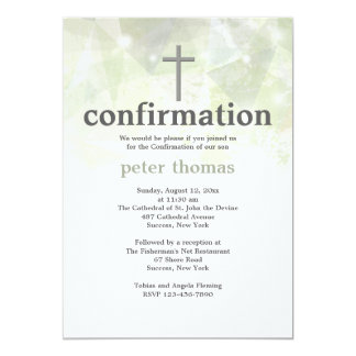Trendy Abstract Confirmation Invitation