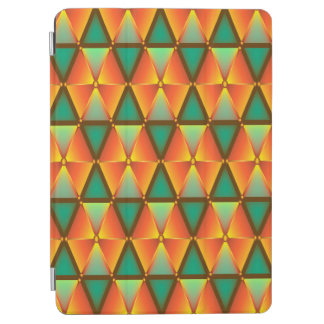 Trendy Abstract Orange And Green Daimond Pattern iPad Air Cover