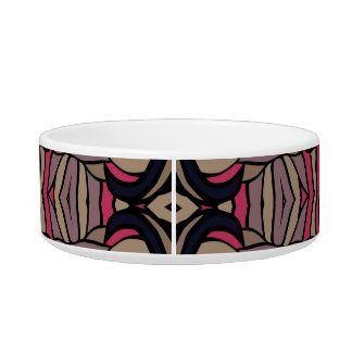 Trendy abstract tribal pattern.  Brown and pink. Pet Bowl