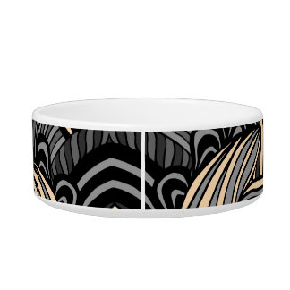 Trendy abstract tribal pattern. cat food bowl