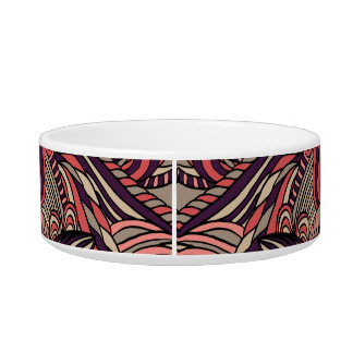 Trendy abstract tribal pattern. pet water bowls