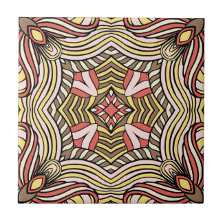 Trendy abstract tribal pattern. small square tile