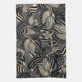 Trendy abstract tribal pattern. tea towel