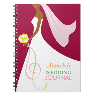 Trendy African American Bride's Wedding Journal