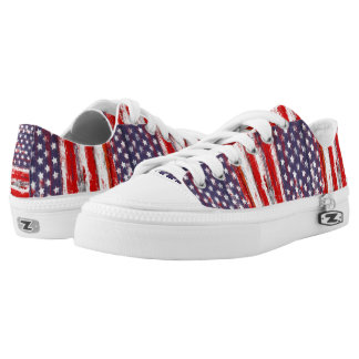Trendy american flag printed shoes